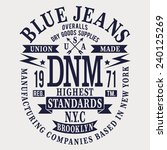 denim blue jeans typography  t... | Shutterstock .eps vector #240125269