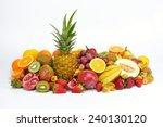fresh tropical fruits in studio | Shutterstock . vector #240130120
