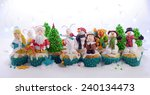 festive cupcakes decorated with ...   Shutterstock . vector #240134473
