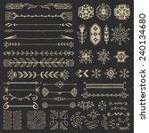 hand drawn assorted design... | Shutterstock .eps vector #240134680