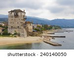 ancient tower in uranopolis | Shutterstock . vector #240140050