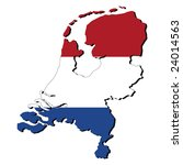map of netherlands with their... | Shutterstock .eps vector #24014563