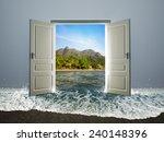 door open to the beach | Shutterstock . vector #240148396