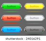 glossy buttons vector   Shutterstock .eps vector #24016291