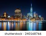 Lower Manhattan By Night Viewed ...