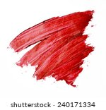 smudged red lipstick isolated  | Shutterstock . vector #240171334