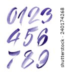 watercolor hand written purple... | Shutterstock .eps vector #240174268