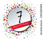7 happy birthday background or...   Shutterstock . vector #240180484