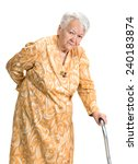 old woman suffering from low... | Shutterstock . vector #240183874