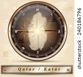map of qatar with borders in... | Shutterstock .eps vector #240186796