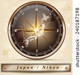 map of japan with borders in... | Shutterstock .eps vector #240187198
