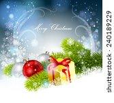 christmas background. vector ... | Shutterstock .eps vector #240189229