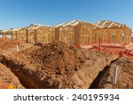 new suburban homes currently... | Shutterstock . vector #240195934