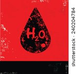 water design on red background... | Shutterstock .eps vector #240204784