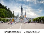 view of the cathedral in... | Shutterstock . vector #240205210