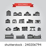 set of flat design buildings... | Shutterstock . vector #240206794