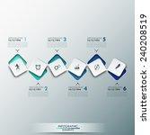modern infographics process... | Shutterstock .eps vector #240208519