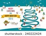 cute eskimos characters... | Shutterstock .eps vector #240222424