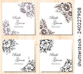 wedding invitation cards with... | Shutterstock .eps vector #240227908