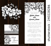 wedding invitation cards with...   Shutterstock .eps vector #240228286