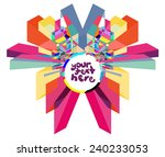 colorful label for text | Shutterstock .eps vector #240233053