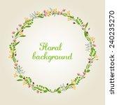 flower wreath illustration  ... | Shutterstock .eps vector #240235270