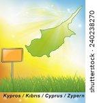 map of cyprus     | Shutterstock . vector #240238270