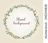 flower wreath illustration  ... | Shutterstock .eps vector #240244828