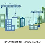 building construction with... | Shutterstock .eps vector #240246760