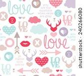 seamless love romantic... | Shutterstock .eps vector #240266080