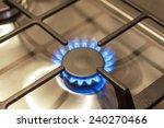 closeup shot of gas burner on... | Shutterstock . vector #240270466