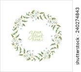 vector watercolor flowers... | Shutterstock .eps vector #240274843