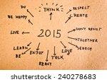 2015 goals written  on the... | Shutterstock . vector #240278683