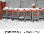 Shopping Carts Under The Snow...