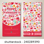 set of happy valentines day... | Shutterstock .eps vector #240289390