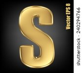 Vector Letter S From Gold Solid ...