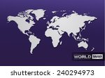 world map and connection clean... | Shutterstock .eps vector #240294973