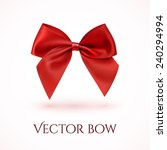 realistic red bow. ribbon.... | Shutterstock .eps vector #240294994