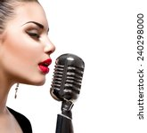 Singing Woman With Retro...