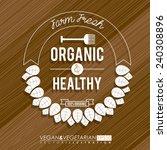 food design over wooden... | Shutterstock .eps vector #240308896