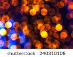 Blue And Gold Bokeh Abstract...