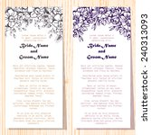 wedding invitation cards with... | Shutterstock .eps vector #240313093