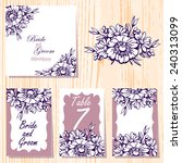 wedding invitation cards with...   Shutterstock .eps vector #240313099