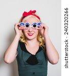 woman wearing generic  mass... | Shutterstock . vector #240320266