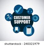 customer support   Shutterstock .eps vector #240321979