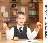 little boy in a classroom   Shutterstock . vector #240327838