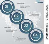 design clean number banners... | Shutterstock .eps vector #240333028