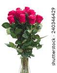 bouquet of blooming  pink rose... | Shutterstock . vector #240346429