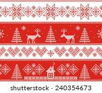 winter. vector seamless pattern. | Shutterstock .eps vector #240354673