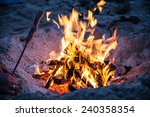 fire on beach | Shutterstock . vector #240358354